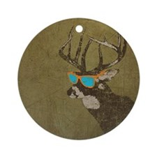 Cool Deer Round Ornament