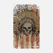 Vintage Skull Sticker (Rectangle)