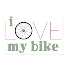 I Love My Bike Postcards (Package of 8)