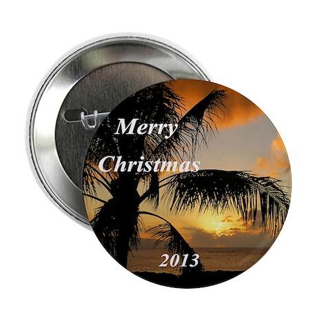 """Sunset Oahu, Hawaii 2.25"""" Button"""