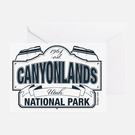 Canyonlands National Park Blue Sign Greeting Card