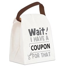 Wait! Canvas Lunch Bag