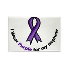 I wear purple for my nephew Rectangle Magnet