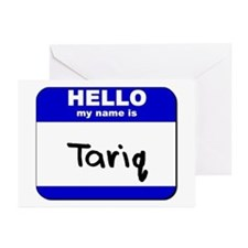 hello my name is tariq  Greeting Cards (Package of