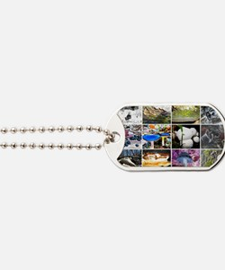 Funky Fungi Collage Dog Tags