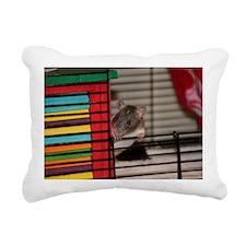 IMG_3192 baby hooded rat Rectangular Canvas Pillow
