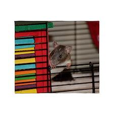 IMG_3192 baby hooded rat Throw Blanket