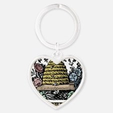 Save The Bees Heart Keychain