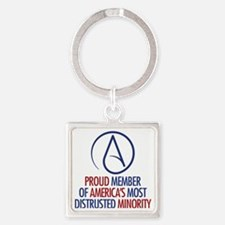 Distrusted Minority Square Keychain