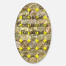 Classic Commems Reverse Journal Sticker (Oval)