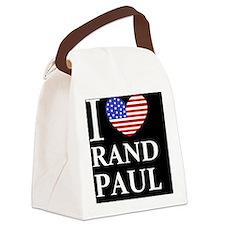 rand paul I love rand paul dark b Canvas Lunch Bag