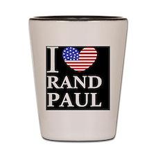 rand paul I love rand paul dark button Shot Glass