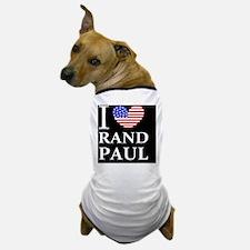 rand paul I love rand paul dark button Dog T-Shirt