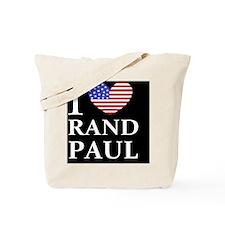 rand paul I love rand paul dark button Tote Bag