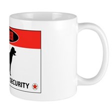 Danger Rottweiler Security Mug