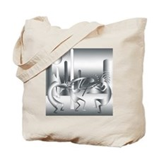 Kokopelli in Shades of Gray Tote Bag