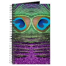 Glittery Purple Peacock Curtains Journal