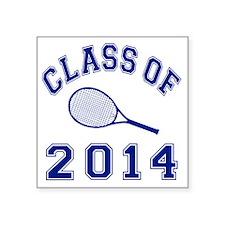 "Class Of 2014 Tennis Square Sticker 3"" x 3"""