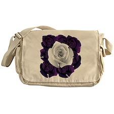 Black White Roses Messenger Bag