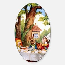 ALICE_MAD HATTER_10x14 Sticker (Oval)