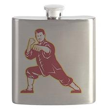 Shaolin Kung Fu Martial Arts Master Retro Flask