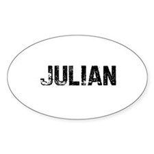 Julian Oval Decal