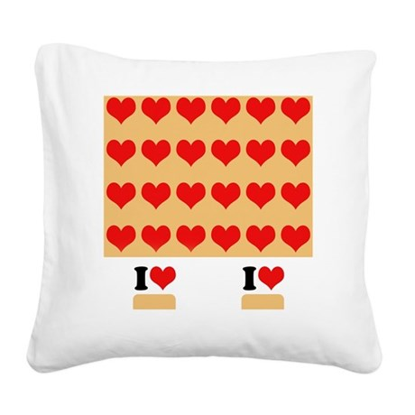 I heart twinkies Square Canvas Pillow