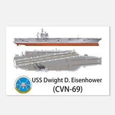 USS Dwight D. Eisenhower  Postcards (Package of 8)
