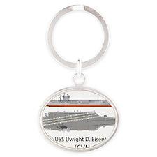 USS Dwight D. Eisenhower (CVN-69) Oval Keychain