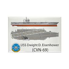 USS Dwight D. Eisenhower (CVN-69) Rectangle Magnet