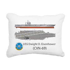 USS Dwight D. Eisenhower Rectangular Canvas Pillow