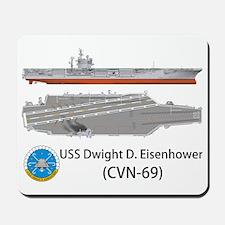 USS Dwight D. Eisenhower (CVN-69) Mousepad
