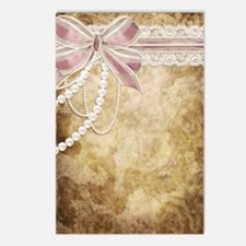 Vintage Pearls and Lace Postcards (Package of 8)