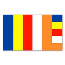 International Buddhist Flag Decal