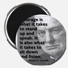 Churchill on courage Magnet