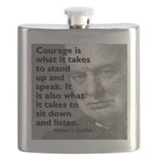 Churchill on courage Flask