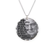 Churchill on courage Necklace