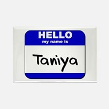 hello my name is taniya Rectangle Magnet