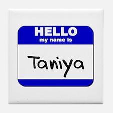 hello my name is taniya  Tile Coaster