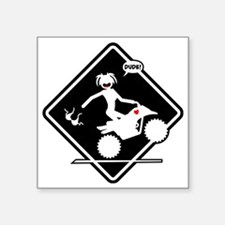"ATV MALFUNCTION black placa Square Sticker 3"" x 3"""