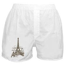 Vintage Eiffel Tower Boxer Shorts