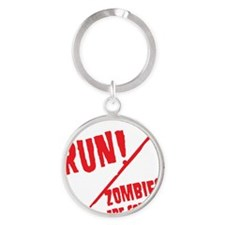 Keep Calm And... Round Keychain