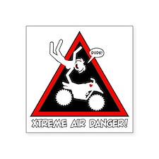 "XTREME AIR STICKGIRL danger Square Sticker 3"" x 3"""