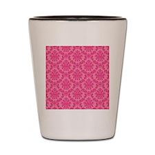 Pink on Pink Damask Shot Glass