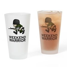 Weekend Warrior II - Military/Airso Drinking Glass