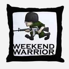 Weekend Warrior II - Military/Airsoft Throw Pillow