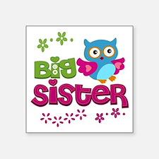 """Big Sister Square Sticker 3"""" x 3"""""""