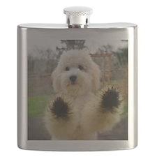 Goldendoodle Puppy Dog Flask