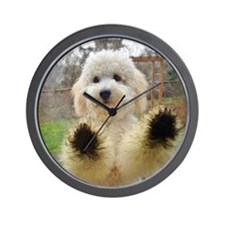 Goldendoodle Puppy Dog Wall Clock
