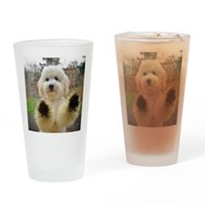 Goldendoodle Puppy Dog Drinking Glass